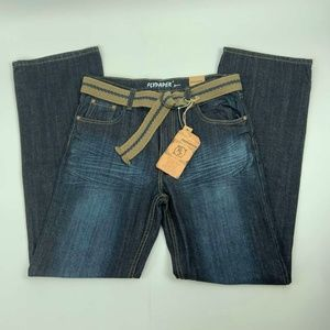NWT Flypaper Jeans Size 18 Boot Cut Belted